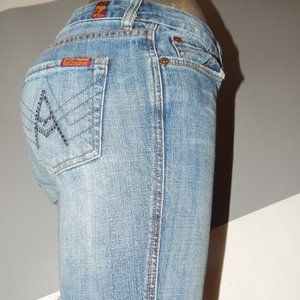 7 For All Mankind Women Cut Off Shorts Size 26 A